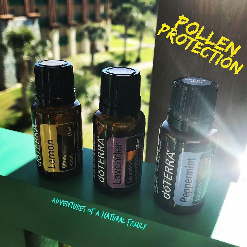 doTERRA's lemon, lavender, and peppermint essential oils