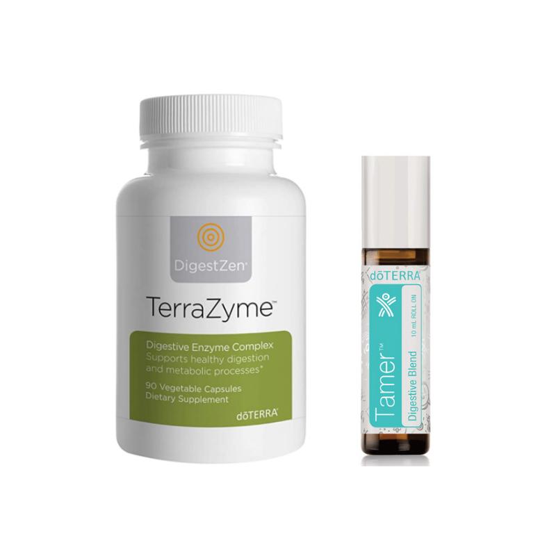doterra's TerraZyme and Tamer roller bottle blend