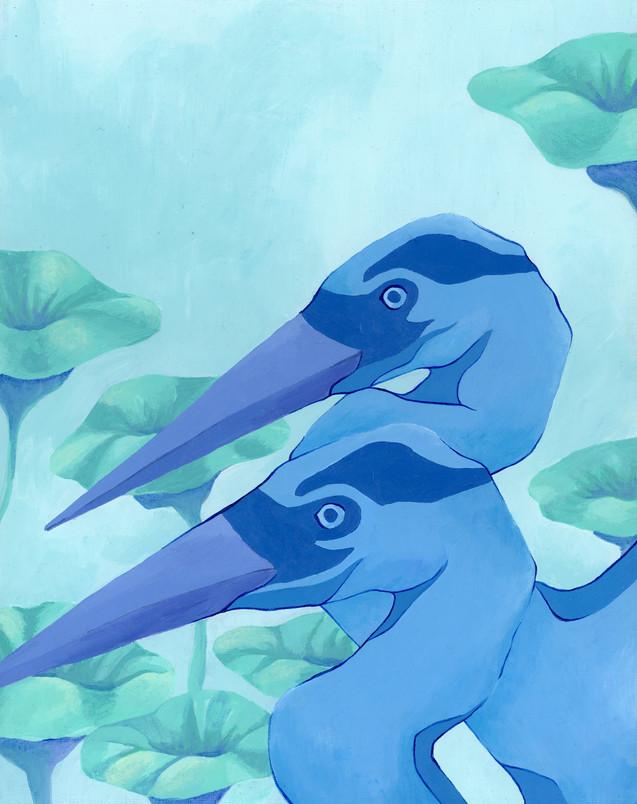 """""""Blue Herons 2"""""""