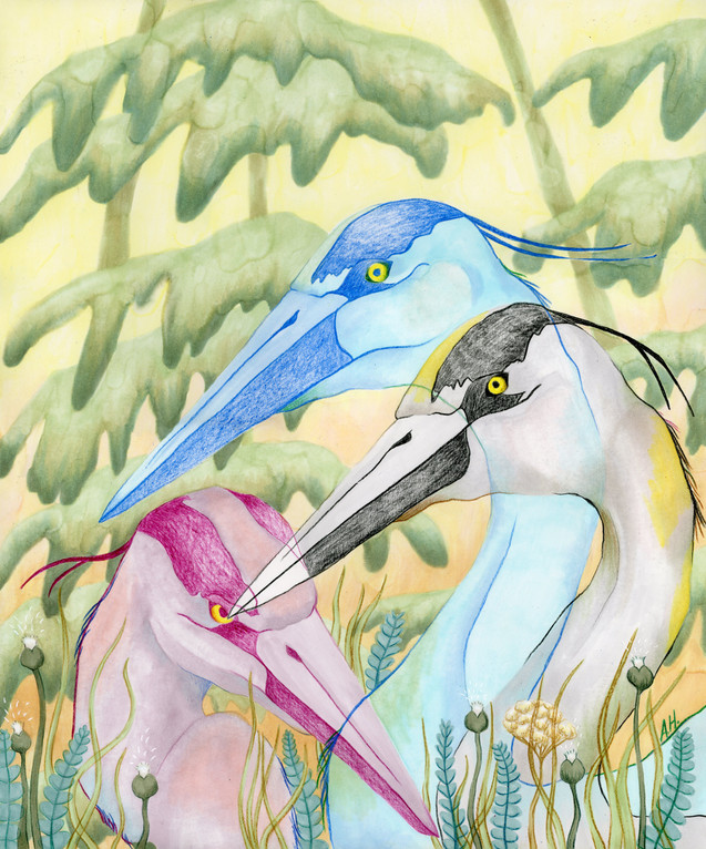 """Forest Herons"""