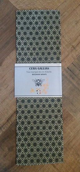 Beeswax Wrap rectangle Saki Blanc et Noir