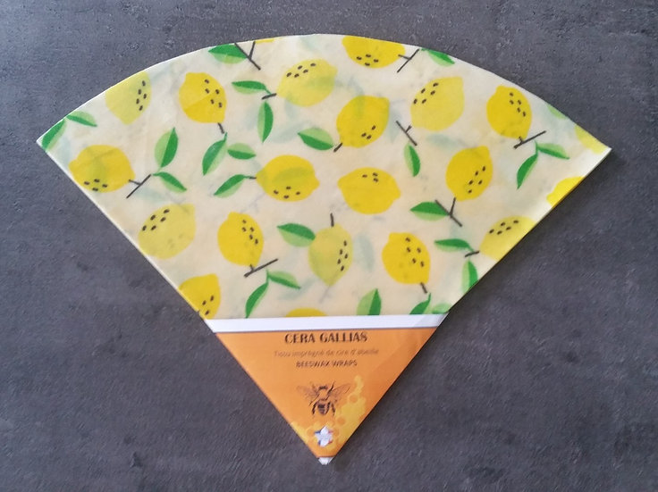 Beeswax Wrap rond gm Citron