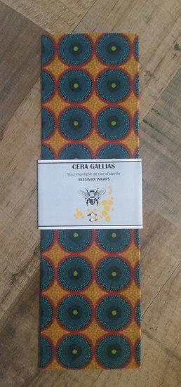 Beeswax Wrap rectangle Batik Jaune