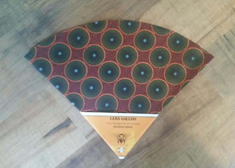 Beeswax Wrap rond gm Batik Brique