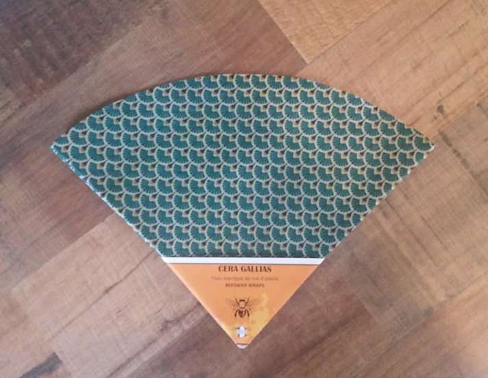 Beeswax Wrap rond gm éventails Forêt