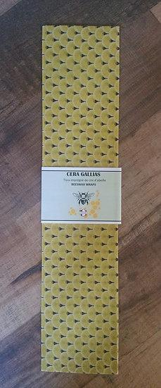 Beeswax Wrap rectangle gm éventails Jaune