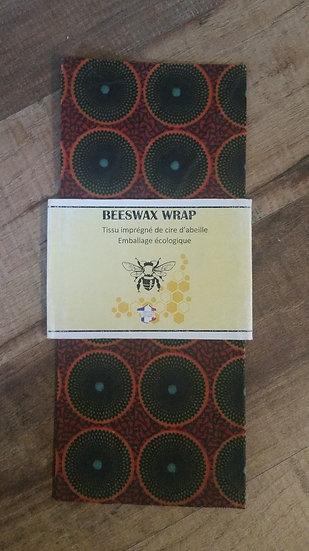 Beeswax Wrap carré Batik Brique