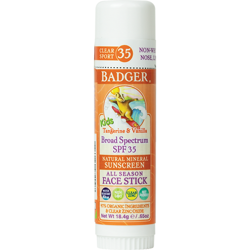 Badger Kids Clear Face Sunscreen Stick SPF 35