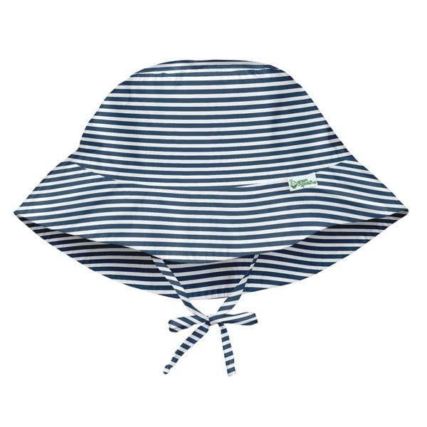 green sprouts bucket hat navy stripe