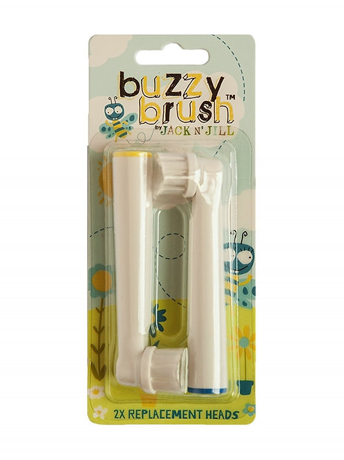 Jack n' Jill NEW Buzzy Brush Replacement Toothbrush Heads 2pack