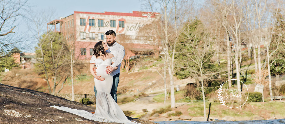 Arlis and Erik | Maternity | Falls Park | Greenville, SC | February 2020