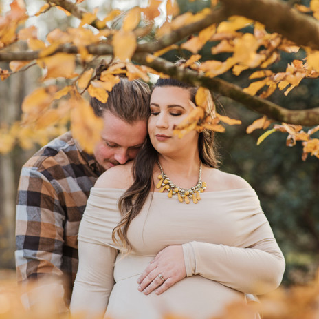 Megan+Chris Trotter | Maternity | Botanical Gardens | December 2019 | Clemson, SC