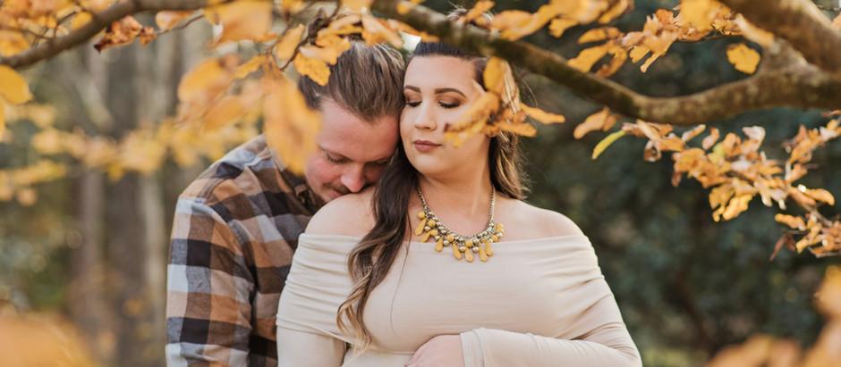 Megan+Chris Trotter   Maternity   Botanical Gardens   December 2019   Clemson, SC