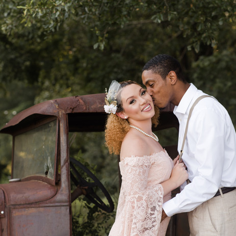 Kristin + TyReece | Vintage Engagement | Rocky River Plantation | Anderson, SC