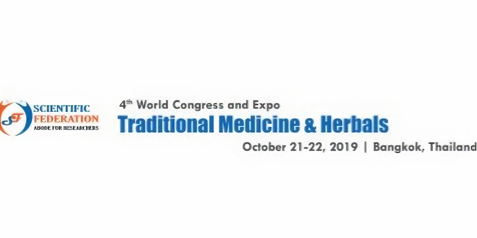 4th World Congress and Expo Traditional Medicine and Herbals