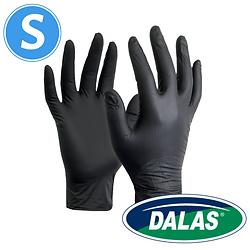 100 יח' כפפות ניטריל שחורות של DALAS - מידה S