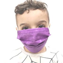 מארז 50 מסכות לילדים בצבע כחול סגול