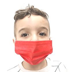 מארז 50 מסכות לילדים בצבע אדום