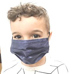 מארז 50 מסכות לילדים בצבע כחול ג'ינס