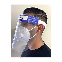 מגן פנים פלסטיק שקוף ונוח להגנה מרבית מפני וירוסים