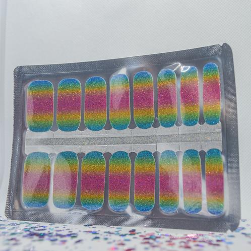 Rainbow Glitter Ombré