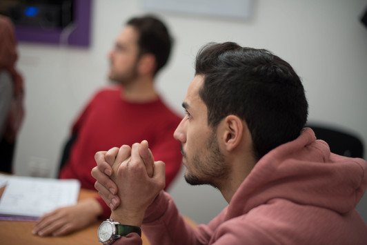 Students learning English in Bristol