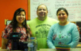 The Gaytan Family: Giselle (left), Jose (middle), and Laura (right)
