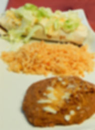 Burrito Platter with Rice and Beans