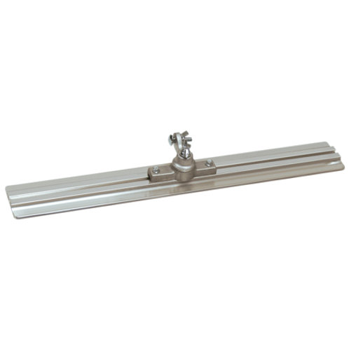 "24"" x 3-1/4"" Square End Extruded Magnesium Walking Float with All-Angle Bracket"