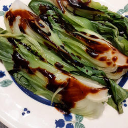 Steamed Pac Choi with Soy Glaze