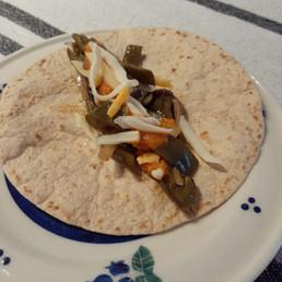 Poblano and Mushroom Tacos