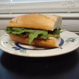 Arugula and Zucchini Sandwich