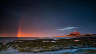 Bamburgh Castle Rainbow
