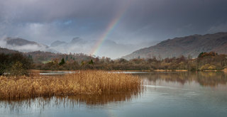 Rainbow over the Langdales