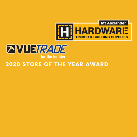 VUETRADE award us - 2020 Store of the Year!