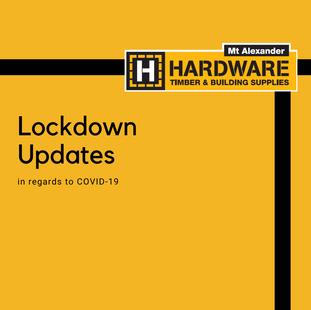 Current Victorian Lockdown - Updates