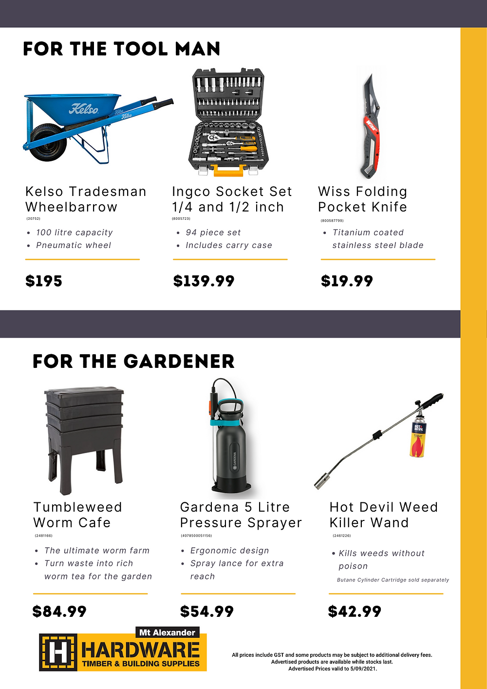 Father's Day Gift Guide 2020 Featuring Makita Line Trimmer, Ingco Multi Function Tool, Hot Devil Weed Killer Wand, Karcher Pressure Washer, Gift Vouchers