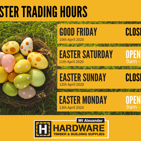 Easter 2020 Trading Hours