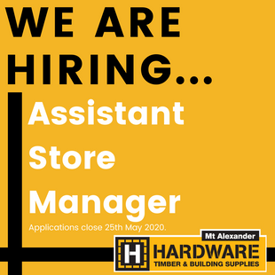 We are hiring... Assistant Store Manager position