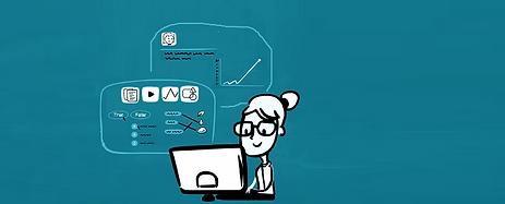 Webで課題を作成・テキスト、動画、画像を組み合わせて問題を作成したり、SCORMの教材をインポート生徒が回答すると・自動的に採点、分析 ・授業前に生徒が苦手な単元や、行き詰まった生徒を把握