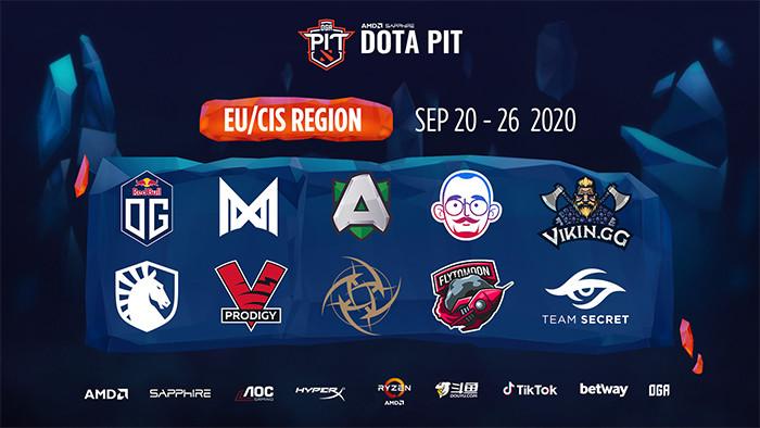 Danh sách đội tham dự OGA Dota PIT Season 3: Europe CIS  VUA-THE-THAO