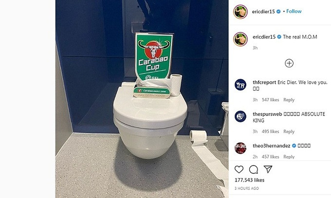 Dier trao giải Cầu thủ hay nhất trận cho chiếc bồn vệ sinh |VUA-THE-THAO