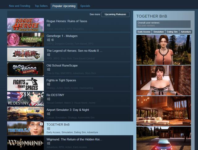 Together BnB xuất hiện trong danh sách sắp phát hành trên Steam |VNGAMES