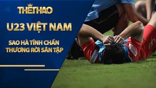 Sao Hà Tĩnh chấn thương rời sân tập U23 Việt Nam, thầy Park nổi cáu