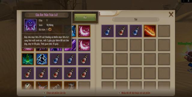 Game thủ nhặt Rương Bí Cảnh để sử dụng kỹ năng và thuốc hỗ trợ trong chiến trường. |ST666-VN-GAME