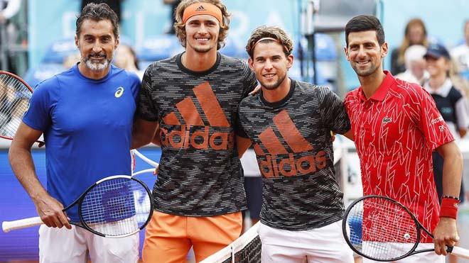 Adria Tour là giải đấu khiến hình ảnh của Djokovic (ngoài cùng bên phải) bị hoen ố |VUA-THE-THAO