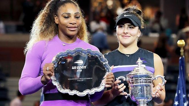 Andreescu (phải) không dự US Open 2020, cònSerena (trái) sẽ tham dự giải đấu này |VUA-THE-THAO