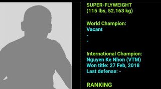 Tay đấm Việt duy nhất lọt top 10 thế giới