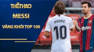 Messi văng khỏi top 100