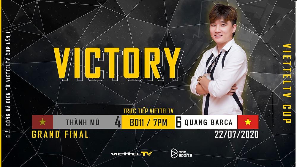 Quang Barca chính thức trở thành đương kim vô địch ViettelTV Cup lần 1  ST666-VN-GAME